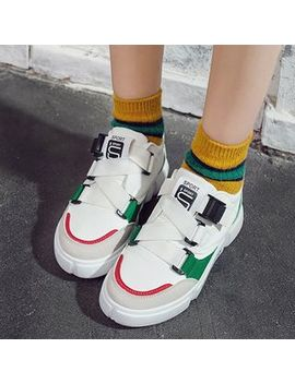 Yuche   Color Block Adhesive Strap Sneakers by Yuche