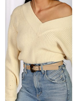 Bevy Beige And Tortoise Belt by Lulus