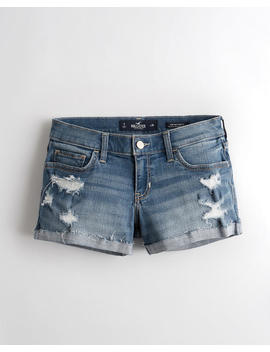 advanced-stretch-low-rise-denim-short-3-in by hollister