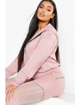 Plus Fit Premium Hooded Jacket by Boohoo