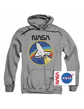 Popfunk Nasa Space Logo Shuttle Pullover Hoodie Sweatshirt & Stickers by Popfunk