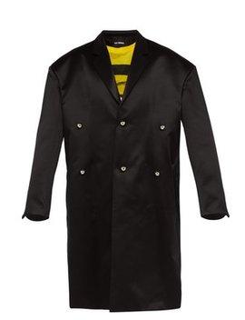 Oversized Wool Blend Duchess Satin Overcoat by Raf Simons