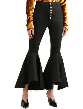 Hysteria Button Detailed High Rise Flared Jeans by Ellery