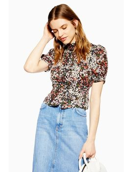 Cluster Ditsy Blouse by Topshop