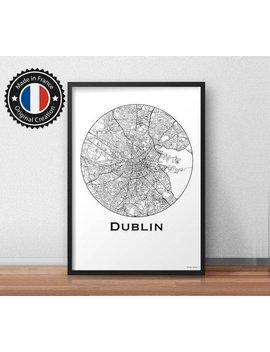Poster Dublin Ireland Minimalist Map   City Map, Street Map by Etsy