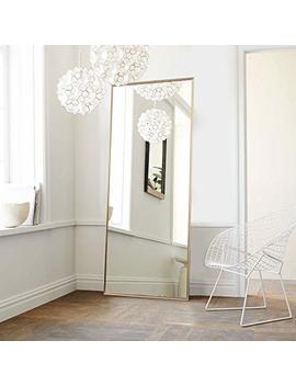 Neu Type Full Length Mirror Floor Mirror With Standing Holder Bedroom/Locker Room Standing/Hanging Mirror Dressing Mirror Wall Mounted Mirror (Golden) by Neu Type