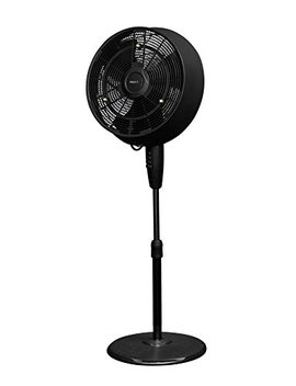 New Air Af 520 B Oscillating Outdoor Misting Fan, 18 Inch, Black by New Air