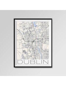 Dublin Ohio Map, Dublin City Map Print, Dublin Map Poster, Dublin Wall Art, Dublin Gift, Custom City, Personalized Ohio Map, Black And White by Etsy