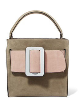 Devon 21 Color Block Suede And Leather Tote by Boyy