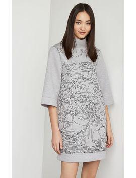 Abstract Print Neoprene Dress by Bcbgmaxazria