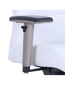 La Z Boy Furniture Ergonomic High Back Bonded Leather Task Chair   White by La Z Boy