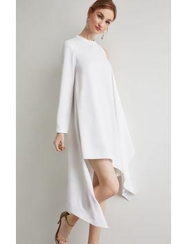 Asymmetrical Mock Neck Dress by Bcbgmaxazria