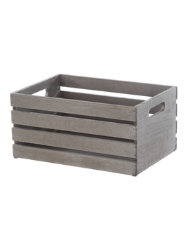 Mainstays Small Wood Crate Brown by Mainstays