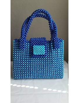 Women Bead Bag A Beaded Handbag And A Carrier .Acrylic Handmade Beaded Handbag Women Hand Woven Bead Bag by Etsy