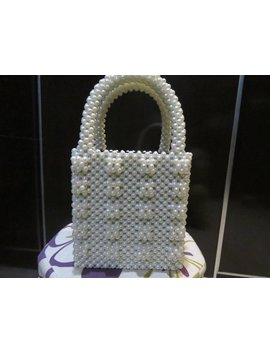 Pearl Bag With Square Pearl Work by Etsy