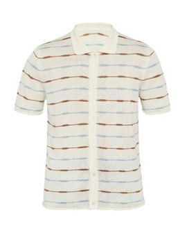 Striped Knitted Linen Polo Shirt by Jacquemus