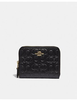 Small Zip Around Wallet In Signature Leather by Coach