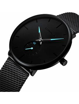 Dreaming Q&P Unisex Minimalist Quartz Analog Watch Fashion Casual Stainless Steel Mesh Band by Dreaming Q&P
