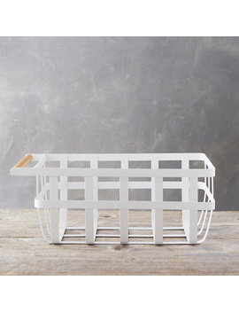 White Steel Storage Basket by Terrain