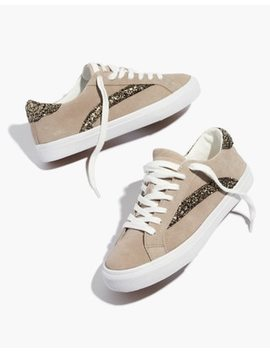 Women's Sidewalk Low Top Sneakers In Glitter Accented Suede by Madewell