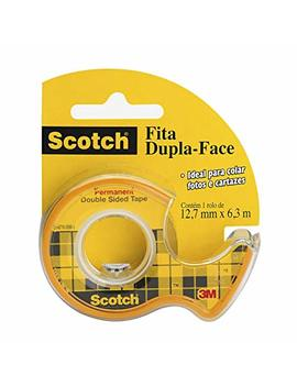 Scotch Double Sided Tape With Dispenser, Narrow Width, Engineered For Holding, 1/2 X 250 Inches (136) by 3 M