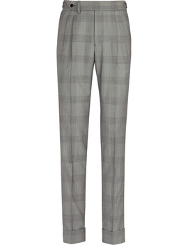 Grey Bolzano Double Pleat Trousers by Suitsupply