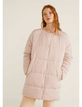 Satin Quilted Jacket by Mango