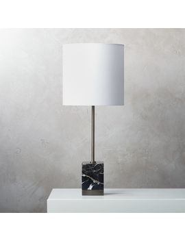 Sharp Black Marble Table Lamp by Crate&Barrel