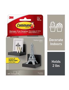 Command Display Ledges, Slate, 2 Ledges, 8 Medium Foam Strips (Hom23 S 2 Es) by Command
