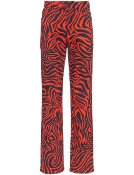 Zebra Print Straight Leg Jeans by Calvin Klein 205 W39nyc