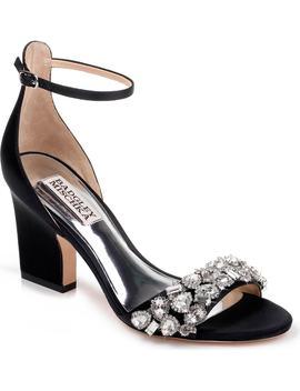 Badgley Mischka Laraine Embellished Ankle Strap Sandal by Badgley Mischka Collection