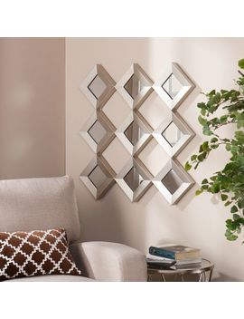 Diamonds Mirrored Squares With Sculpture by Pier1 Imports
