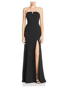 Strapless Crepe Gown   100 Percents Exclusive by Aqua