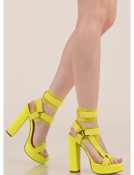 Band Mate Iridescent Caged Platforms by Go Jane