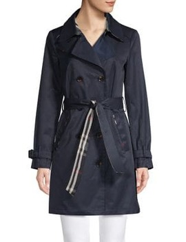 Cotton Blend Trench Coat by London Fog