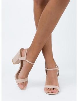 Billini Navina Heels Blush Suede by Billini