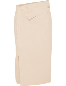Folded Denim Midi Skirt by Jacquemus