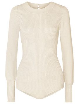 Stephanie Ribbed Knit Bodysuit by Jacquemus