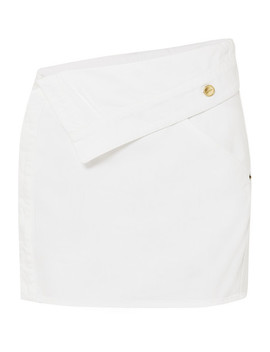 Folded Denim Mini Skirt by Jacquemus
