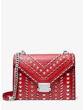 Whitney Large Studded Leather Convertible Shoulder Bag by Michael Kors