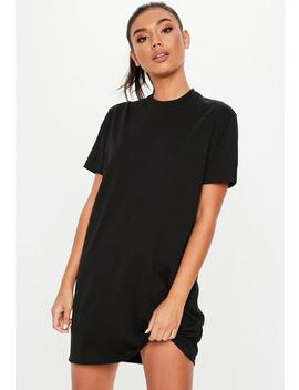 Petite Black Basic T Shirt Dress by Missguided