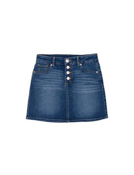 Button Front Denim Skirt (Little Girls, Big Girls & Big Girls Plus) by Wonder Nation