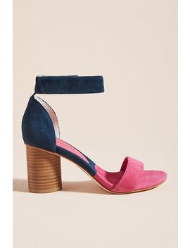 Jeffrey Campbell Purdy Colorblocked Heeled Sandals by Jeffrey Campbell