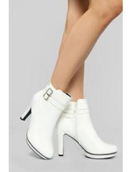 Cutie Pie Booties   White by Fashion Nova