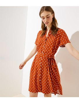 Polka Dot Pocket Shirtdress by Loft