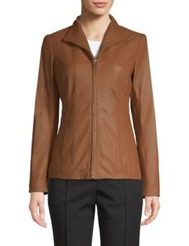Leather Princess Seam Jacket by Cole Haan