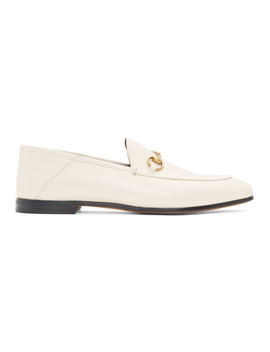 White Horsebit Loafers by Gucci