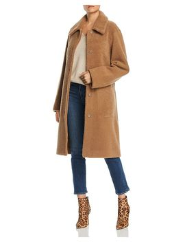 Belted Lamb Shearling Coat   100 Percents Exclusive by Maximilian Furs