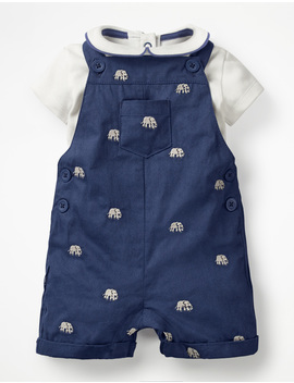 Overall And Bodysuit Set by Boden