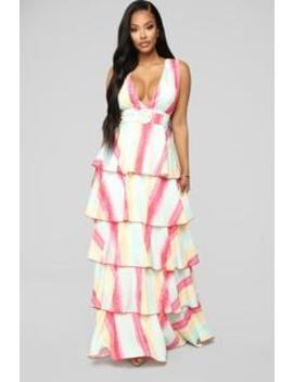 She Takes The Cake Maxi Dress   Multi by Fashion Nova